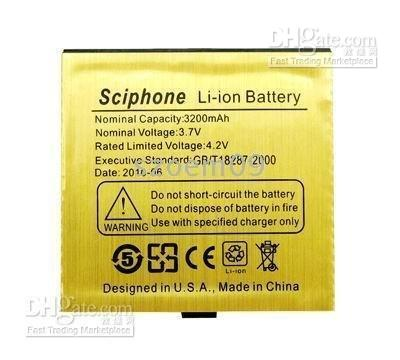 Yes sciphone - i68 phone new Li ion mAh battery for Sciphone CECT