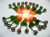 Wholesale 10pcs Fishing Rod Twin Bell Bite alarm Red Led Light Batteries