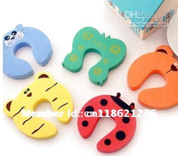 10pcs Child kids Baby Animal Cartoon Door Jammers stopper holder lock Safety guard Finger Protect
