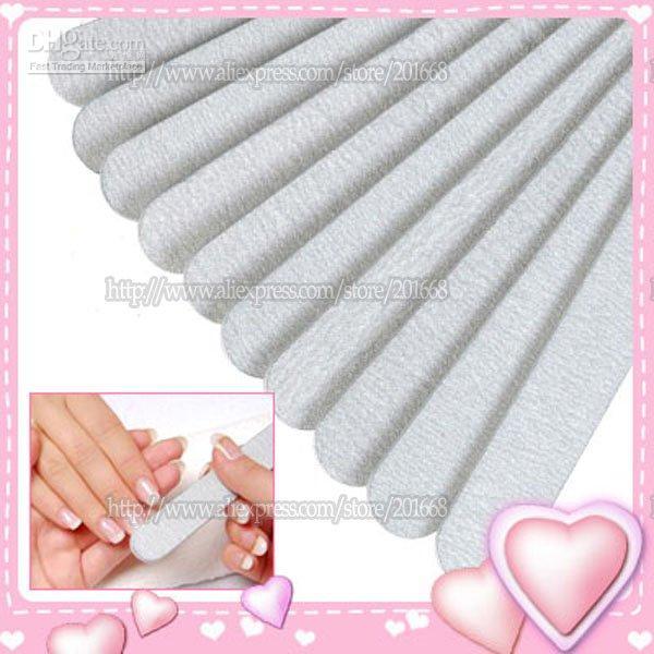 Wholesale way white Straight Nail Sanding Files Nail Zebra File NA335