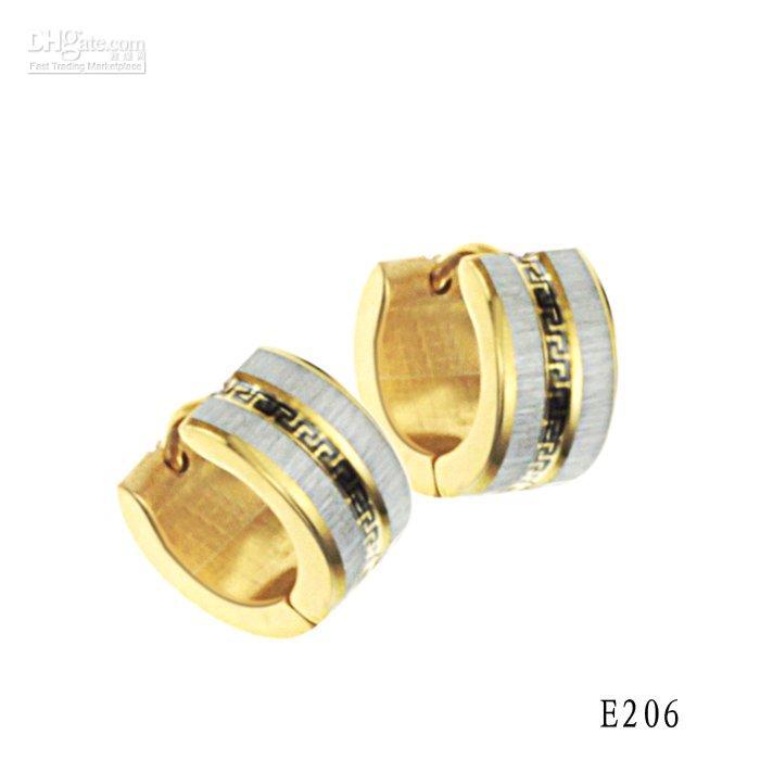 Wholesale stainless steel Earring New design Gold earring never fade stud earring E206