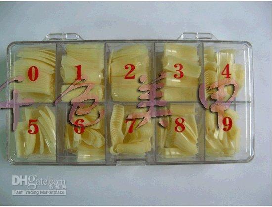 French Nail Tips beauty box nails - 500pcs Acrylic French Natural Color Nail Art Tips box False Fingernail UV Gel Nails Beauty