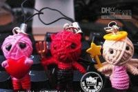 Wholesale Hot selling Freeshipping Job Cute Voodoo Doll Mobile Phone charms straps Halloween Gift T