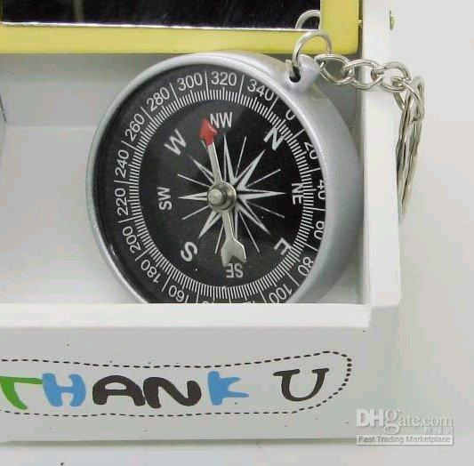 Wholesale mini High accuracy and stability American compass keychain compass
