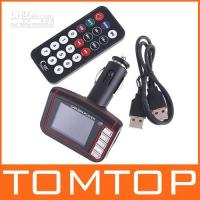 Wholesale 1 quot lcd Car MP3 MP4 Player SD FM Transmitter with Remote Control K345