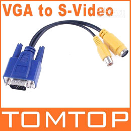 Wholesale 10 VGA to TV S Video RCA OUT Converter Cable Adapter C101