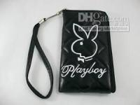 Wholesale Hot selling1Pc Playboy Case Bag Pouch For Ipod Mp3 Mp4 Mobile Phone Black