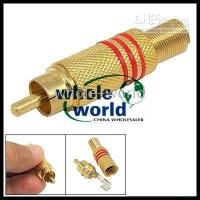 Golden Plated RCA Male to Type Female Adapter Connector , 100...