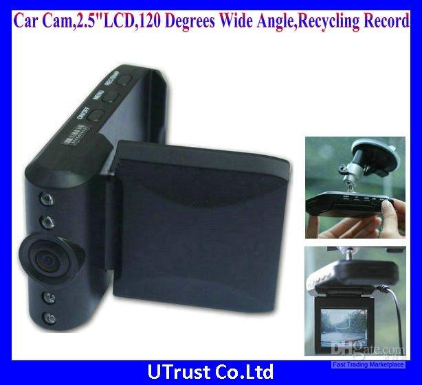 Wholesale Vehicle Camera quot LCD Degrees Wide Angle Recycling Video Audio Record AV Out