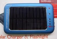 Wholesale Wholesales MAH Cell Mobile phone Solar Charger Portable Battery With Flash Light For MP3 MP4 MP5