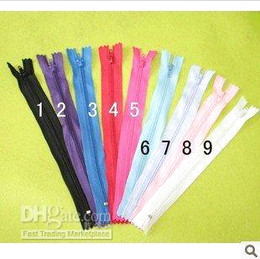 Wholesale Hot selling and retail cm garment zippers with mix colors