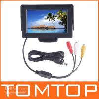 "Monitor Stereo Dashboard 4.3"" TFT LCD Car Monitor Reverse Rearview mirror Color Camera DVD VCR CCTV Black K381"