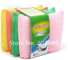 Brush a bowl with the necessary sponge brush clean cloth clean Kitchen Dish Bowl Washing Sponge