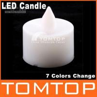 Wholesale 50pcs Colors Change Battery Operated LED Candle H1357