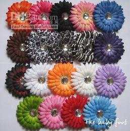 Wholesale A of daisy flowers baby hair bow gerber headband fdh