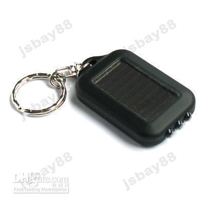 Wholesale 20pcs Mini Solar Energy Rechargeable LED Flashlight Keychain satcus