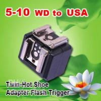 Wholesale NEW Studio Flash Trigger mm to twin Hot shoe Adapter