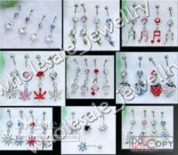 Wholesale Mix Designs Dangle Charm Belly Button Navel Rings Bars Body Piercing Jewelry