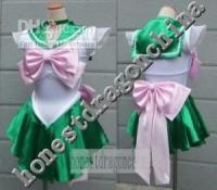 Wholesale Sailor Moon Cosplay Costume Green Pink Dress Jupitor F