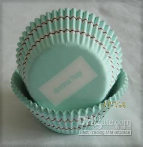Wholesale fashion new brand Turquoise Cupcake coffee stripes baking paper liner