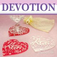 Wholesale 80set LOVE Acrylic coaster pc set Wedding favours gift