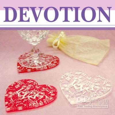 acrylic coaster - 80set LOVE Acrylic coaster pc set Wedding favours gift