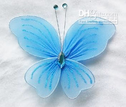 6pc blue Stocking Butterfly Wedding Decoration 11cm
