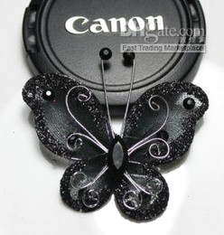 50  Black  Stocking Butterfly Wedding Decorations 5cm