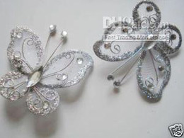 24pc Silver Butterfly for Wedding Christmas Decorations