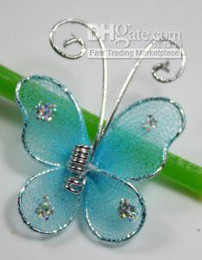 100 Blue Stocking Butterfly Wedding Decorations 2.5 cm