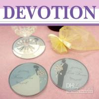 Wholesale 12 set Blue Round acrylic coaster gifts wedding favours