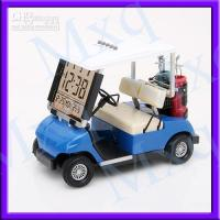Wholesale new Mini Golf Cart Buggy Alarm Clock Thermometer BLUE