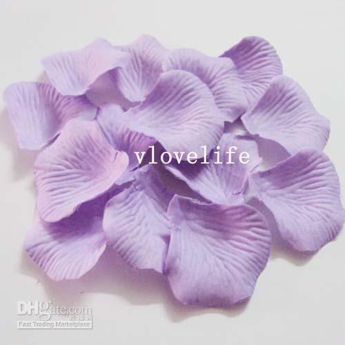 Wholesale 1000PCS Lavender Silk Rose Petals Wedding Party Flower