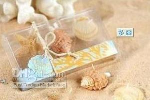 beach candle favors - Wedding Favors Beach Sea Shell Candle Gift Pack x