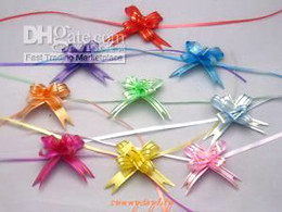creative lovely cute 180pcs 12x230mm Pull Flower Ribbon Bow Gift Wrap 9 COLOR for birthday wedding party decor