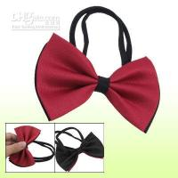 Wholesale Black Red Bowtie Collar Adjustable Bow Tie for Pet Dog angelss