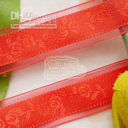 Wholesale 20yards ROSE Red mm Organza Ribbons D3