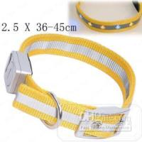 Wholesale Waterproof Pet Dog LED Light Safety Nylon Collar Yellow angelss