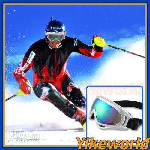 Wholesale Anti Snow Silver Goggles Sun Glasses for Ski Snowboard worldtrade68