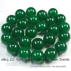 Wholesale 16mm Round green Natural Green Jade Beads strand TL