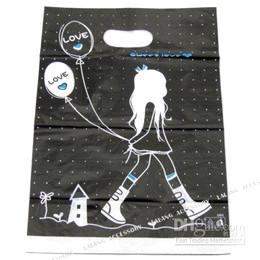 200 Black Charms Plastic Shopping Packing Bag 120247