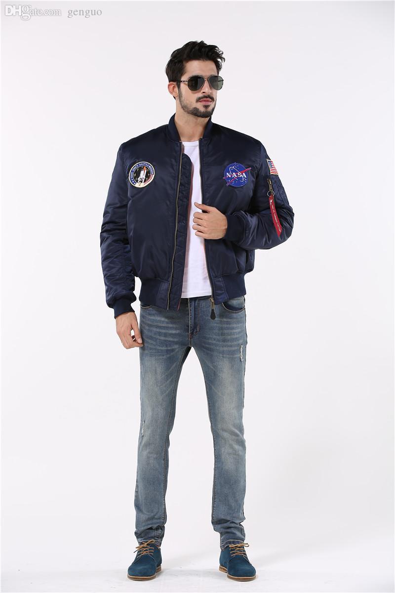 Fall-european style puffer flight pilot jacket bomber ma1 jacket,police cheap warm winter jacket men,NASA air force Jacket for men