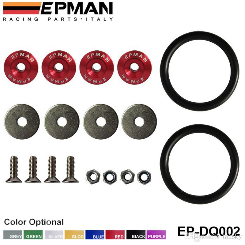 EPMAN car Quick Release Fasteners are ideal for front bumpers, rear bumpers, and trunk / hatch lids EP-DQ002