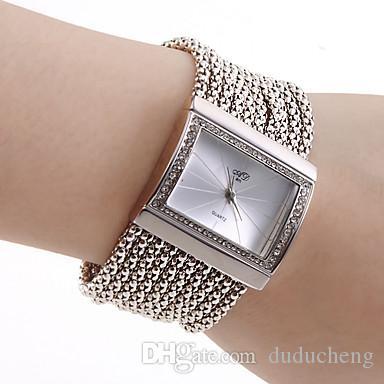 Antique Silver with Crystal Rhinestone Bracelet watches Women Girls Lady Alloy Quartz Adjustable Wrist Watch luxury brand relogio feminino