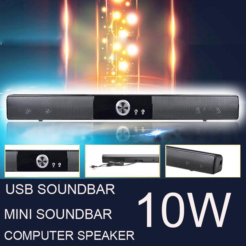 POWERFUL USB MINI SOUNDBAR / SOUND BAR, HIFI USB POWERED LAUTSPRECHER FÜR COMPUTER / PC / LAPTOP / TABLETTEN / SMALL TV ETC