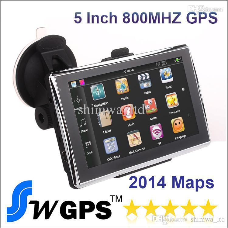 FREE shipping 5 Inch Car GPS Navigation MTK MS2531 800MHZ 912S CPU FM Transmitter WinCE 6.0 RAM 128MB Build in 4GB Flash With New Maps