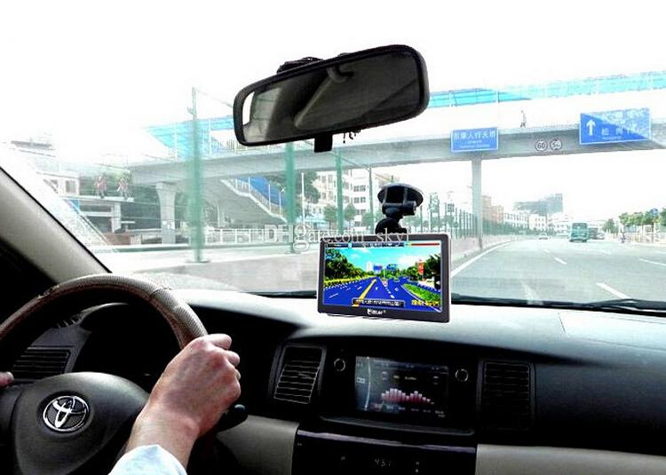 Car GPS Navigator 7 inch Navigation SIRF Atlas-V Dual-Core CPU 800*480 HD Touch Screen 4GB/8GB Memory Free Maps Bluetooth AV-in Free DHL