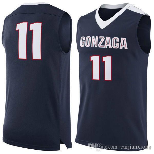 No.11 Gonzaga Bulldogs College Basketball Jersey embroidery setback cheap Jerseys men size S-3XL fast shipping