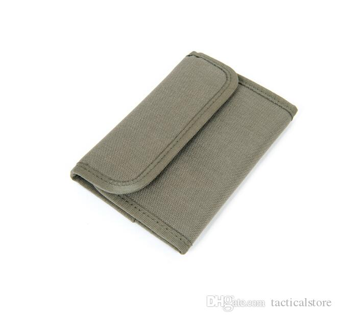 Tactical Military EDC Multifunctional Wallets Army Outdoor Camping Travel Waterproof Casual Card Wallets Bag case 1000D Nylon