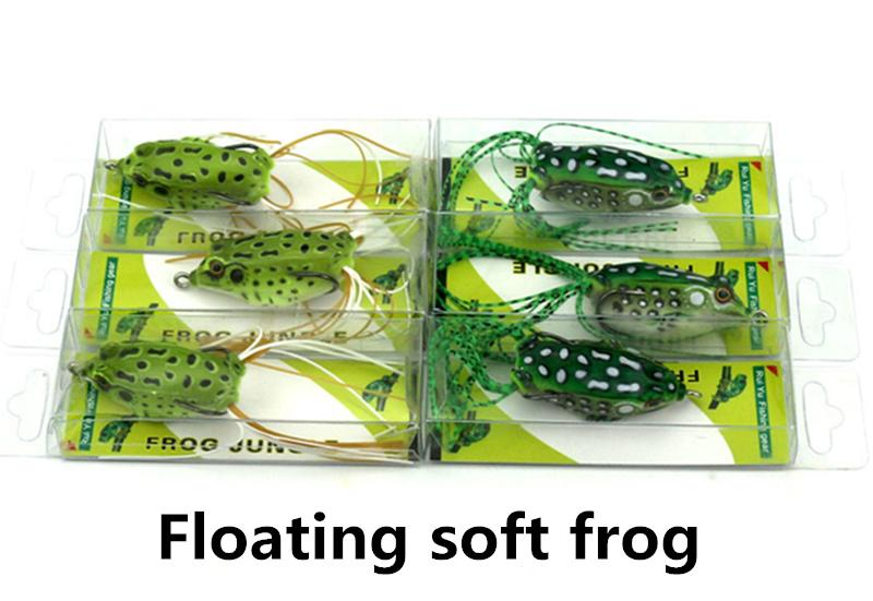 Top Water Soft Frog Crankbait Fishing Lures Baits 5.5cm 8.5g Floating plastic poper freshwater bait